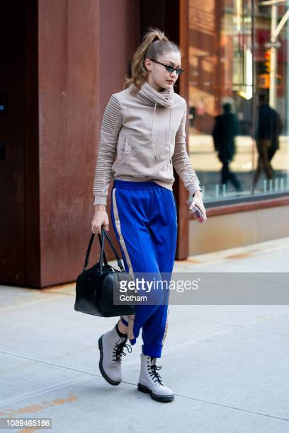 Gigi Hadid is seen in NoHo on January 03, 2019 in New York City.