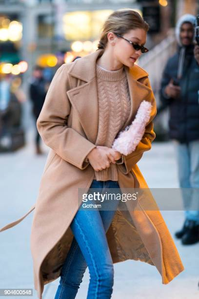 Gigi Hadid is seen in NoHo on January 13 2018 in New York City