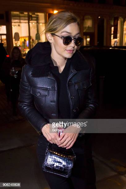 Gigi Hadid is seen in NoHo on January 17 2018 in New York City
