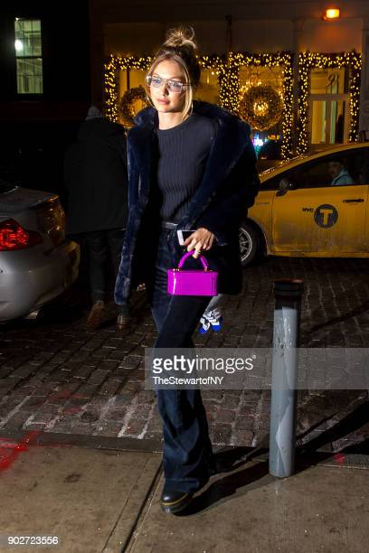 Gigi Hadid is seen in NoHo on January 8 2018 in New York City