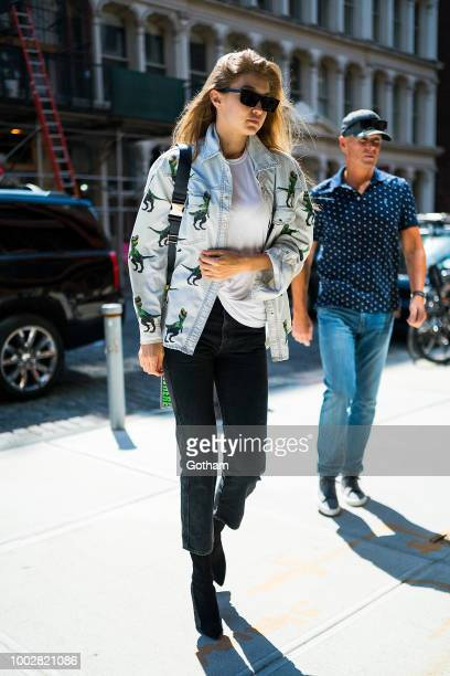 Gigi Hadid is seen in NoHo on July 20 2018 in New York City