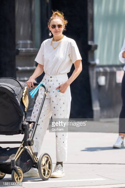Gigi Hadid is seen in NoHo on July 28, 2021 in New York City.