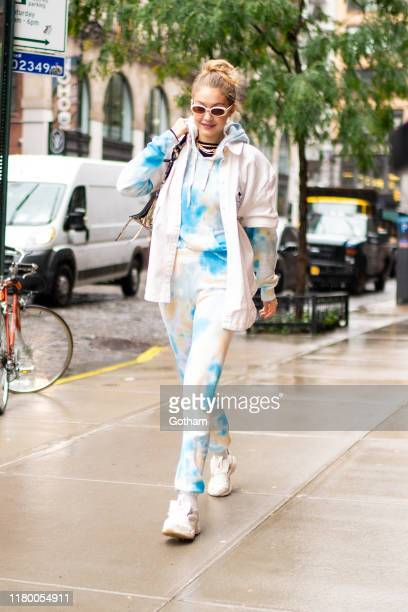 Gigi Hadid is seen in NoHo on October 09, 2019 in New York City.