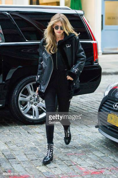 Gigi Hadid is seen in NoHo on October 26 2017 in New York City