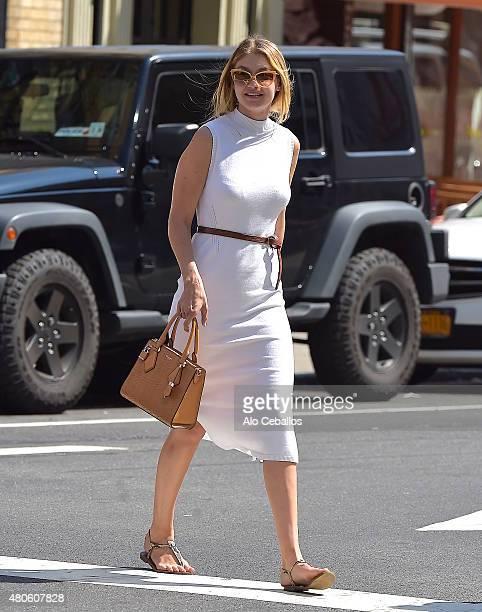 Gigi Hadid is seen in Soho on July 13 2015 in New York City