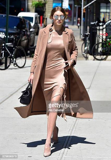 Gigi Hadid is seen in Soho on May 9 2016 in New York City