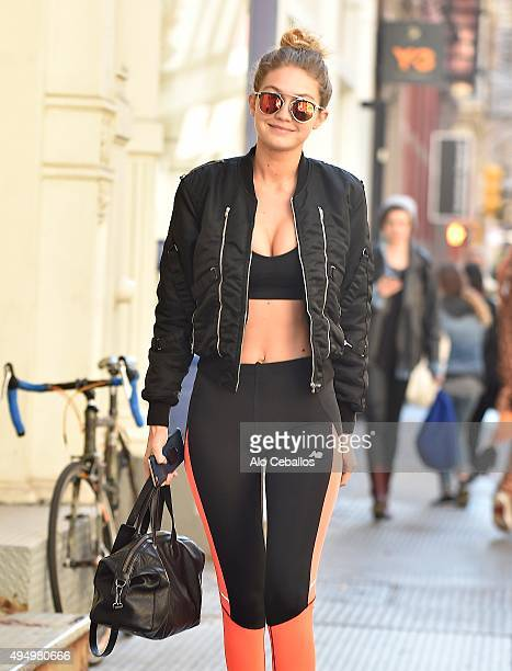 Gigi Hadid is seen in Soho on October 30 2015 in New York City