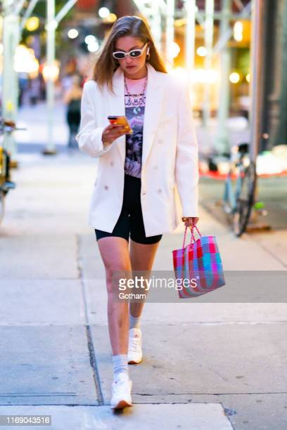 Gigi Hadid is seen in the East Village on August 19 2019 in New York City