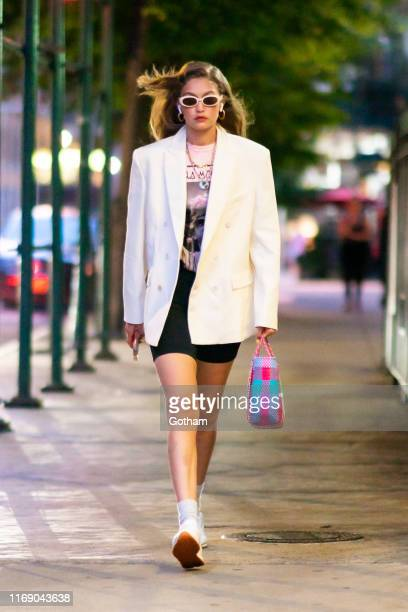 Gigi Hadid is seen in the East Village on August 19, 2019 in New York City.