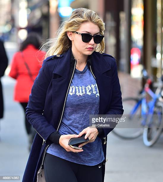 Gigi Hadid is seen in the West Village on March 19 2015 in New York City