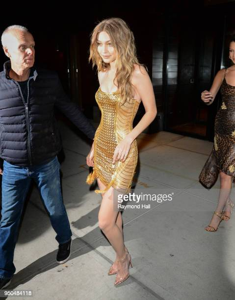Gigi Hadid is seen on April 23 2018 in New York City