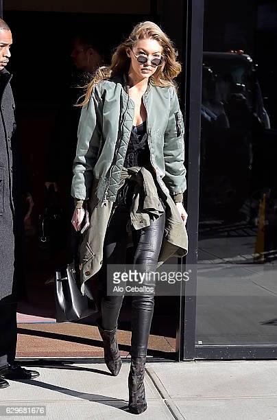 Gigi Hadid is seen on December 14 2016 in New York City