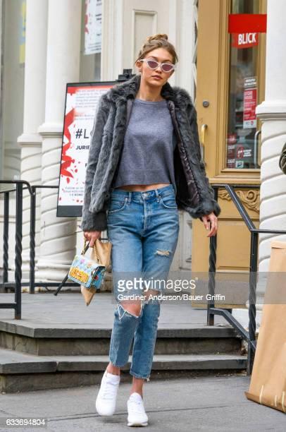 Gigi Hadid is seen on February 03 2017 in New York City