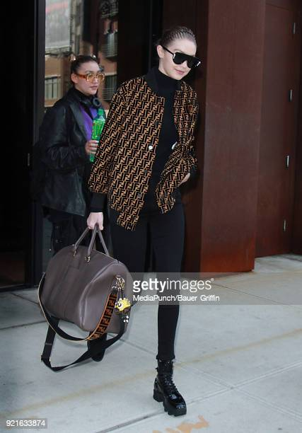 Gigi Hadid is seen on February 20 2018 in New York City