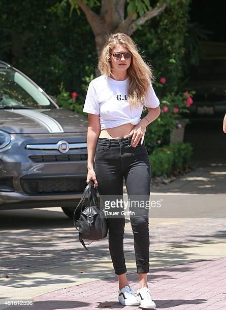 Gigi Hadid is seen on July 22 2015 in Los Angeles California