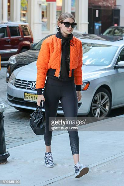 Gigi Hadid is seen on May 08 2016 in New York City