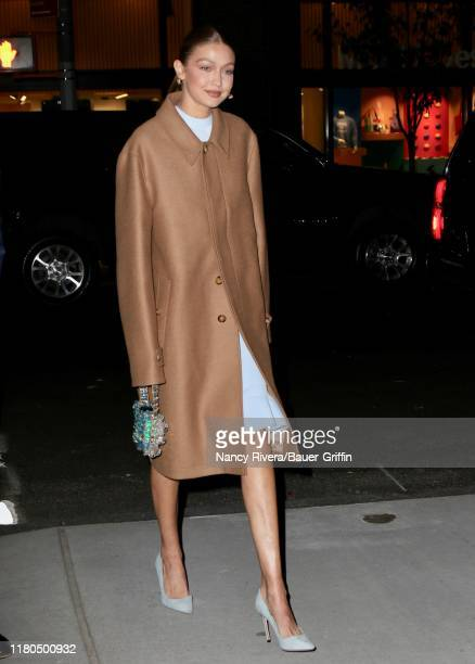 Gigi Hadid is seen on November 06, 2019 in New York City.