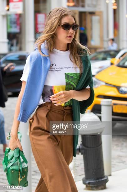Gigi Hadid is seen on September 08, 2019 in New York City.