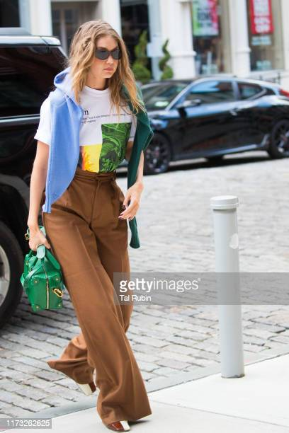 Gigi Hadid is seen on September 08, 2019 in New York City.