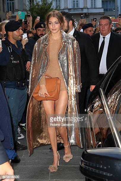 Gigi Hadid is seen on September 21 2016 in Milan Italy