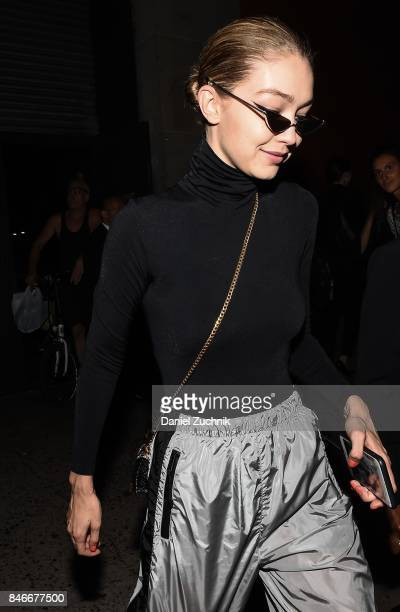 Gigi Hadid is seen outside the Marc Jacobs show during New York Fashion Week Women's S/S 2018 on September 13 2017 in New York City