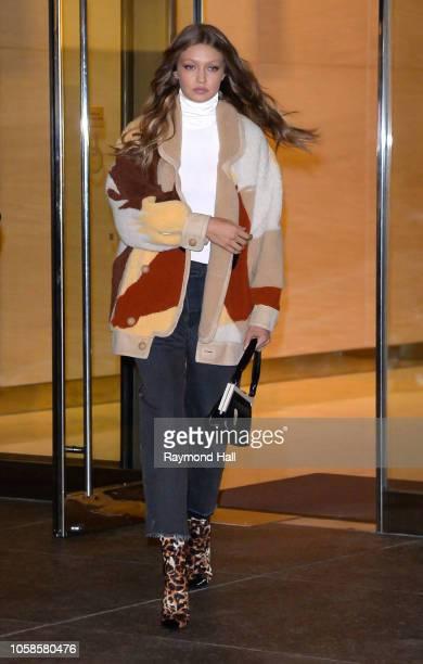 Gigi Hadid is seen walking in midtown on November 6 2018 in New York City