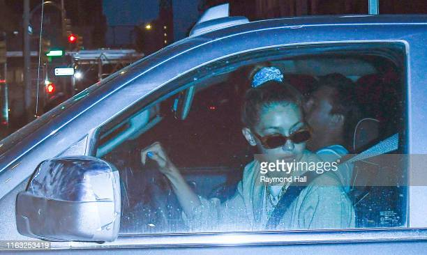 Gigi Hadid is seen with Tyler Cameron on August 22 2019 in New York City