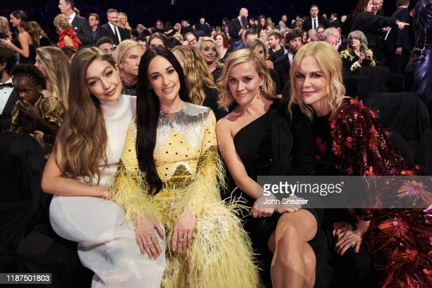 Gigi Hadid Kacey Musgraves Reese Witherspoon and Nicole Kidman attend the 53rd annual CMA Awards at the Bridgestone Arena on November 13 2019 in...