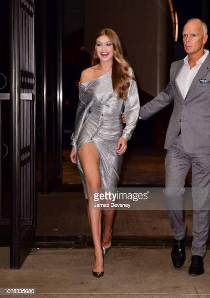 Gigi Hadid leaves the Daily Front Row's 2018 Fashion Media Awards at Park Hyatt New York on September 6 2018 in New York City