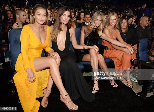 Gigi Hadid Lily Aldridge Martha Hunt Karlie Kloss and Mariska Hargitay attend the 2015 MTV Video Music Awards at Microsoft Theater on August 30 2015...