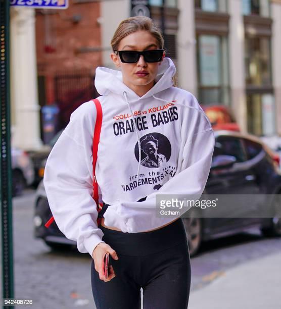 Gigi Hadid on April 5 2018 in New York City