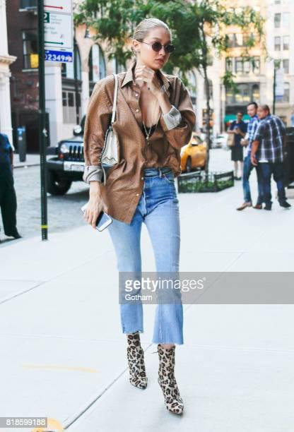 Gigi Hadid on July 18 2017 in New York City