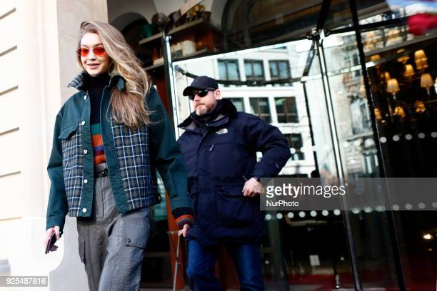 Gigi Hadid seen leaving her hotel in Paris France on February 28 2018