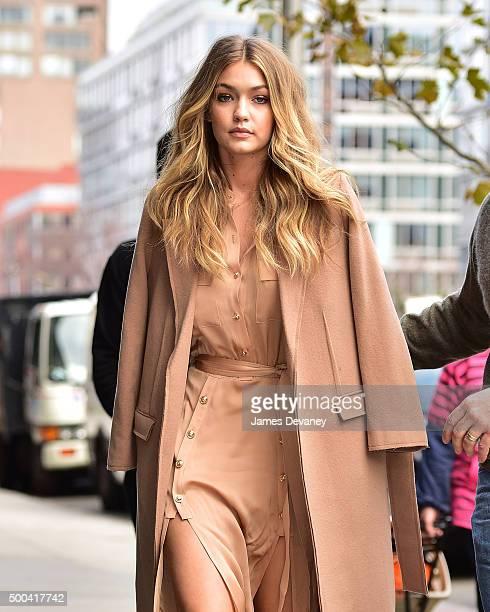 Gigi Hadid seen on the streets of Manhattan on December 8 2015 in New York City
