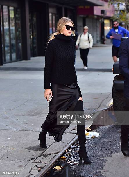 Gigi Hadid seen on the streets of Manhattan on December 8, 2015 in New York City.