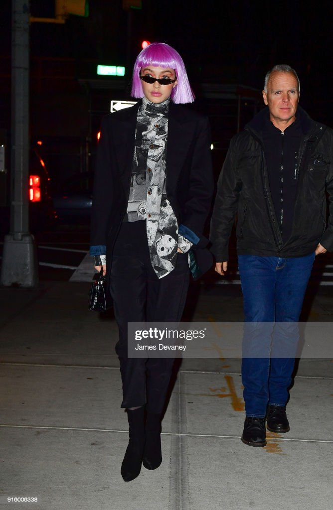Gigi Hadid seen on the streets of Manhattan on February 8, 2018 in New York City.