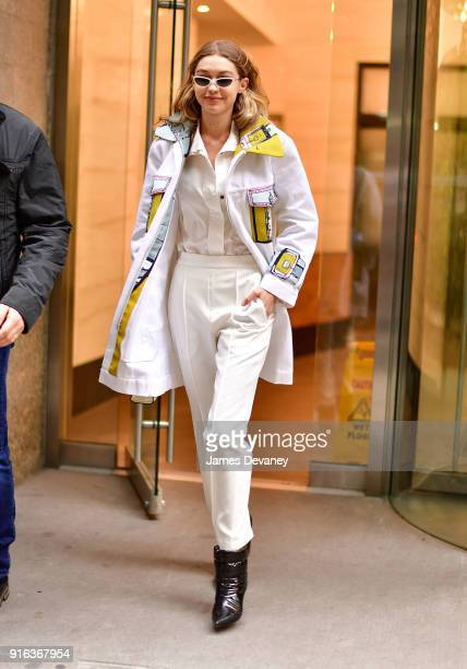 Gigi Hadid seen on the streets of Manhattan on February 9 2018 in New York City