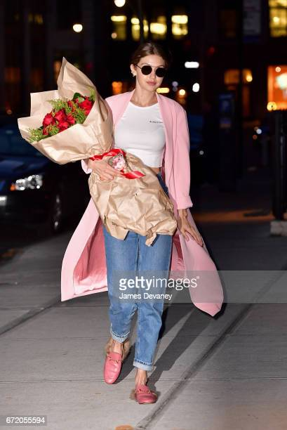 Gigi Hadid seen on the streets of Manhattan on her birthday on April 23 2017 in New York City