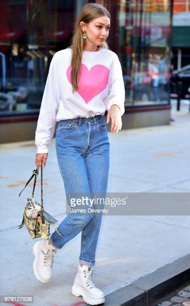 Gigi Hadid seen on the streets of Manhattan on June 19 2018 in New York City
