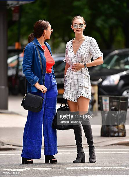 Gigi Hadid seen on the streets of Manhattan on September 5 2016 in New York City