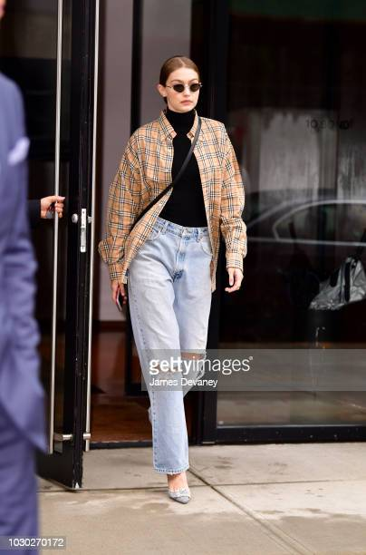 Gigi Hadid seen on the streets of Manhattan on September 9 2018 in New York City