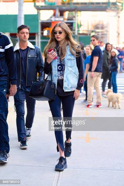 Gigi Hadid seen out and about in Manhattan on April 21 2018 in New York City