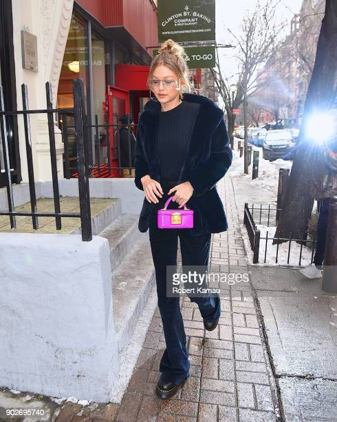 Gigi Hadid seen out and about in Manhattan on January 8 2018 in New York City