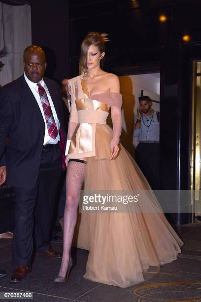 Gigi Hadid seen out in Manhattan before the MET Gala on May 1 2017 in New York City