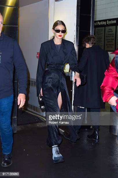 Gigi Hadid seen out in Manhattan on February 11 2018 in New York City