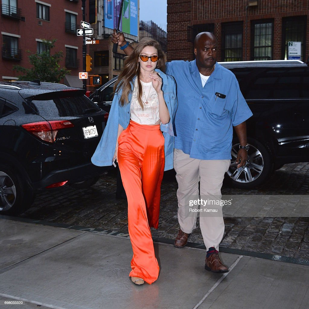 Gigi Hadid seen out in Westvillage on June 19, 2017 in New York City.