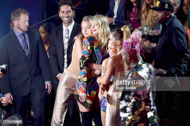 Gigi Hadid Taylor Swift Halsey Bella Hadid and Todrick Hall pose during the 2019 MTV Video Music Awards at Prudential Center on August 26 2019 in...