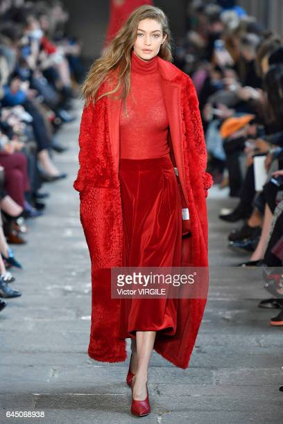Gigi Hadid walks at the Max Mara Ready to Wear Fashion show during Milan Fashion Week Fall/Winter 2017/18 on February 23 2017 in Milan Italy