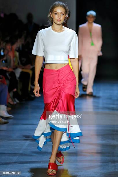 Gigi Hadid walks at the Prabal Gurung Spring/Summer 2019 fashion show during New York Fashion Week on September 9 2018 in New York City