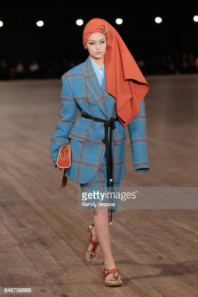 Gigi Hadid walks the Marc Jacobs fashion show during New York Fashion Week The Shows on September 13 2017 in New York City